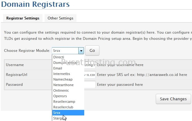 setting registrar srs digital registra 2