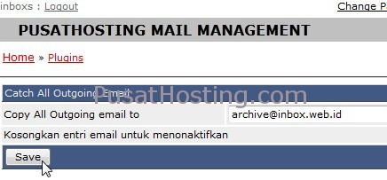 catch all outgoing email pusathosting
