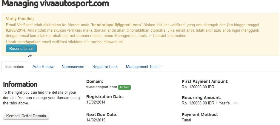 verifikasi email domain raa