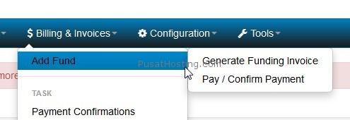 generate invoice deposit srsx pusathosting