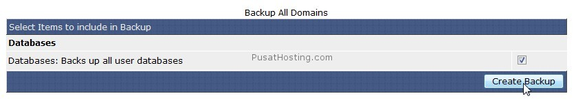 create backup semua database - mysql hosting - pusathosting