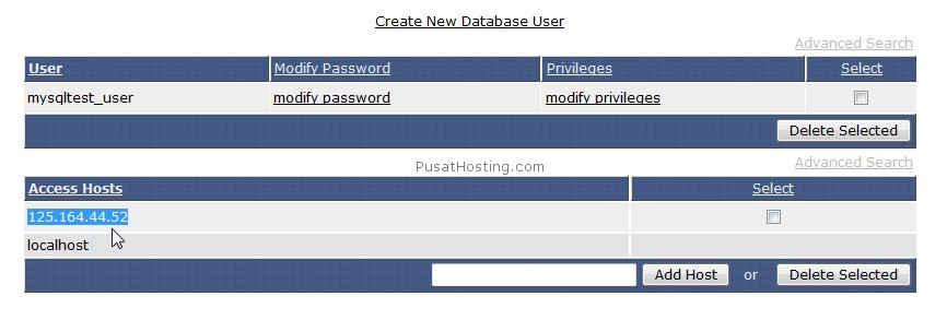 ip address pengakses remote mysql - pusathosting