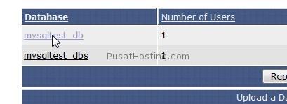 memilih database - mysql hosting - pusathosting