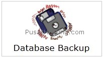 menu database backup - mysql hosting - pusathosting
