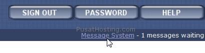 message system - mysql hosting - pusathosting