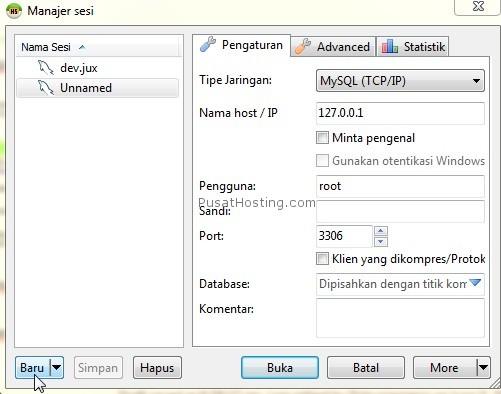 new config heidi sql - mysql hosting - pusathosting