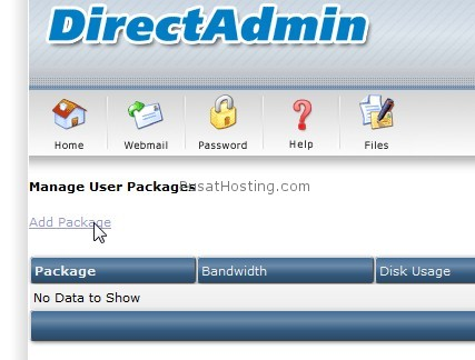 add package di directadmin
